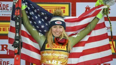 Mondiaux de ski: Shiffrin reine du super-G, Vonn chute à Are