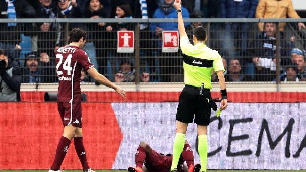 Serie A: 10 squalificato per un turno