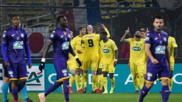 Coupe de France: Nantes, Dijon, Caen et Orléans passent en quarts