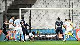 Marseille beat 10-man Bordeaux in empty Stade Velodrome