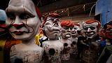 ترامب وبوتين ضمن مجسمات كاريكاتورية في كرنفال في نيس الفرنسية