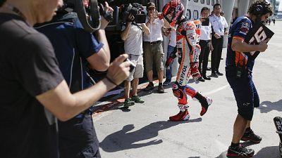 Moto: spalla frena Marquez, guido male