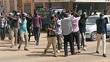 Des manifestants soudanais dans le centre de Khartoum le 7 février 2019
