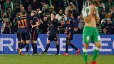 بيتيس يفرط في تقدمه ويتعادل مع بلنسية في كأس ملك إسبانيا