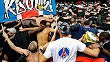 Des ultras du PSG lors d'un match à Rennes, le 23 septembre 2018