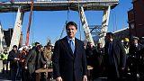 Reconstruction of Italian bridge symbol of 'revival' for government