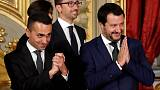 Row with France could lift divided Italian coalition