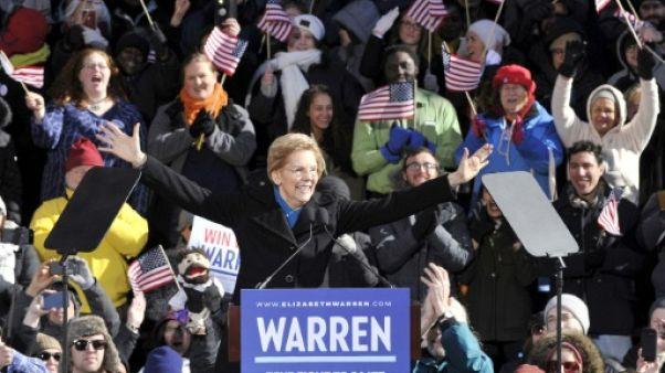 Défiant la polémique sur ses origines,  Warren part à l'assaut de la Maison Blanche