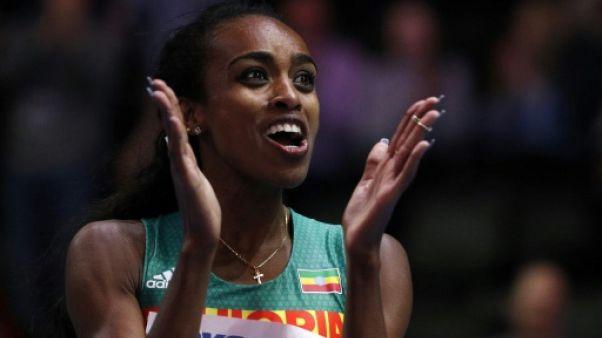 L'Ethiopienne Genzebe Dibaba remporte le 1500 m à Birmingham le 3 mars 2018