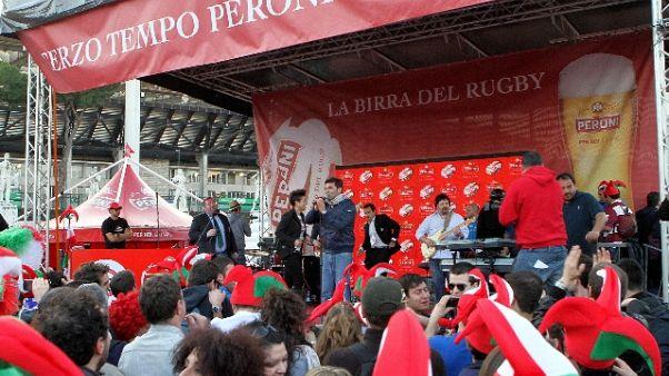 Rugby:Italia-Galles,festa Peroni Village