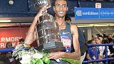 Athletics - Kejelcha narrowly misses world indoor mile record