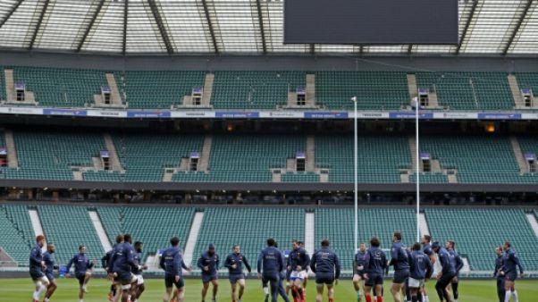 Les joueurs français à l'entraînement, le 9 février 2019 au Stade de France