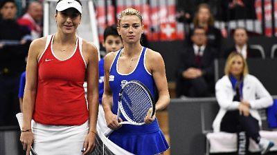Tennis: Fed Cup, Svizzera-Italia 3-0