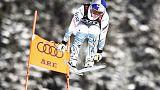 Vonn claims bronze in farewell race as Stuhec wins downhill