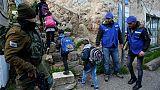 Hébron: des enfants accompagnés à l'école après le départ d'observateurs