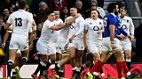 Rugby - Hat-trick for May as six-try England crush sorry France