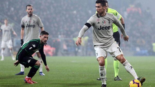 Serie A, Sassuolo-Juventus 0-3