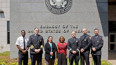 U.S. Embassy welcomes members of Bloomington, Indiana Fire Department for exchange program