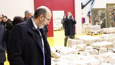 Crimi visita deposito beni culturali