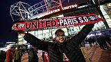 Un supporter du PSG devant Old Trafford, le 12 février 2019 à Manchester