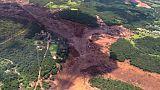 L'effondrement d'un barrage près de Brumadinho au Brésil le 25 janvier 2019