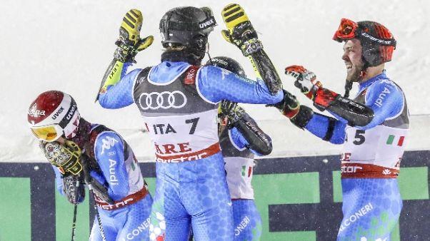 Mondiali sci: bronzo Italia team event