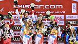 Mondiaux de ski: la Suisse confirme sur le team event, les Bleus bredouilles