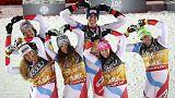 Zenhaeusern holds nerve to snatch Alpine team gold for Switzerland