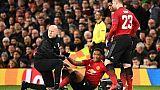 Ligue des champions: Martial sort sur blessure contre le PSG