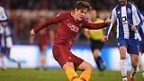 Zaniolo strikes twice to clinch Roma win over Porto