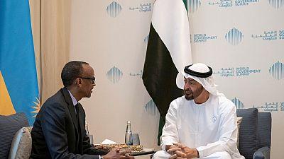 His Highness Sheikh Mohamed bin Zayed receives Rwandan President
