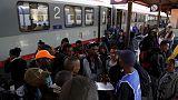 EU asylum applications fall to below half crisis peak