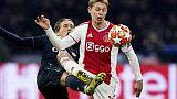 Champions: prima Var nega gol all'Ajax