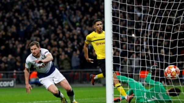 C1: Tottenham surclasse Dortmund 3-0 en 8e de finale aller