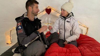 San Valentino sul ghiacciaio nell'igloo