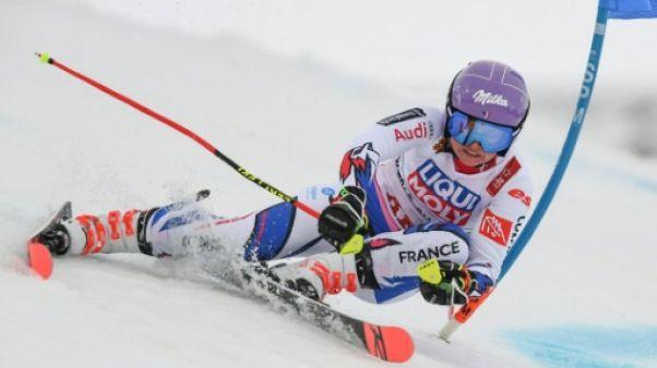 Mondiaux de ski: Worley légèrement en retrait après la 1re manche du géant