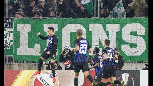 Europa League: l'Inter vince, Lazio ko