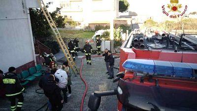 Incendio in casa riposo, un arresto
