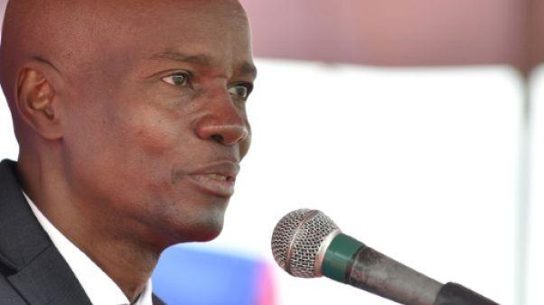Le président haïtien Jovenel Moïse à Port-au-Prince, le 12 janvier 2018
