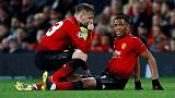 Man United forwards Martial and Lingard out for up to three weeks