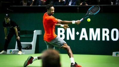 Le Français Gaël Monfils au tournoi ATP de Rotterdam, le 12 février 2019