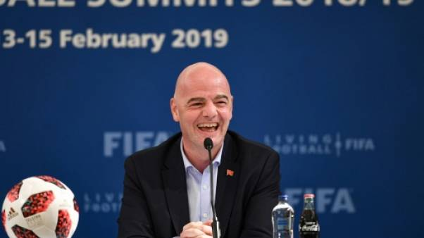 """Mondial-2022 à 48 équipes ? Infantino """"optimiste"""", même si ce n'est """"pas facile"""""""