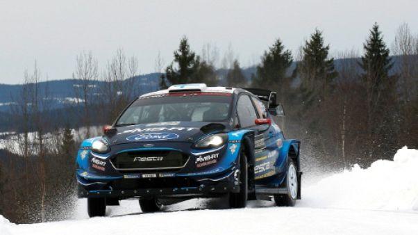 Le Finlandais Teemu Suninen en tête du rallye de Suède le 15 février 2019