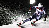 Alpine skiing - Kristoffersen stuns Hirscher to claim thrilling GS gold
