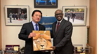 H.E. The Ambassador calls on Hon. Kenji Wakamiya, Chairman of the Committee on Foreign Affairs, House of Representatives