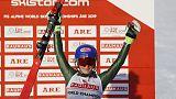 Alpine skiing - Shiffrin wins fourth successive world slalom gold