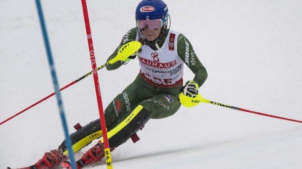 Sci: Shiffrin slalom d'oro, 4/o di fila