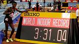 Ethiopia's Tefera breaks world indoor 1,500m record