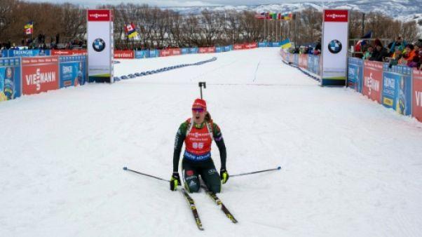 Biathlon: Denise Herrmann remporte la poursuite de Soldier Hollow