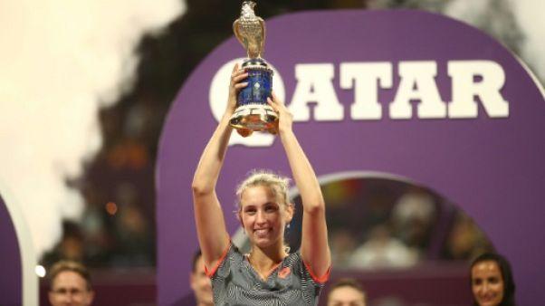 La Belge Elise Mertens remporte l'Open du Qatar à Doha le 16 février 2019
